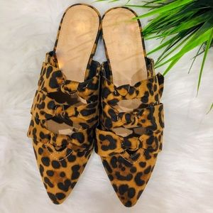 Shoes - ⚡️5⭐️LEOPARD POINTED SUEDE MULES SLIP-ON SHOE